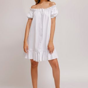 Claudia Dress Solid Linen